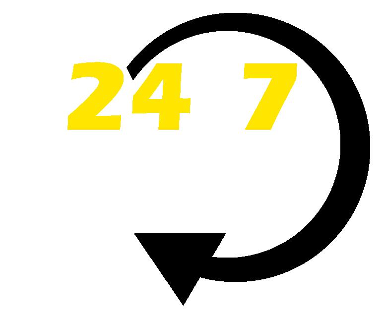 24 hour logo black